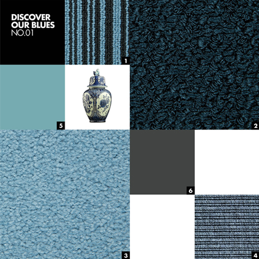 DISCOVER OUR BLUES NO.01 - Color mood palet